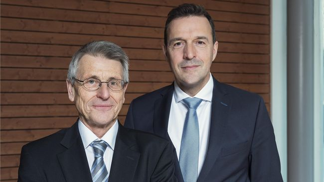 Heinrich M. Lanz, President of the Board of Trustees, and Samuel Bon, CEO